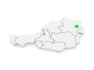 Map of Vienna. Austria.