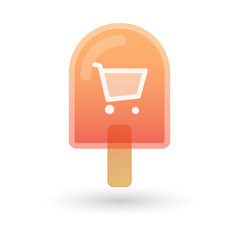 Ice cream icon with a shopping cart