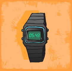 Cartoon watch  illustration