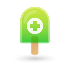 Ice cream icon with a pharmacy sign
