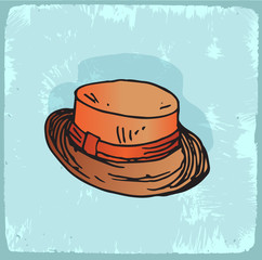 Cartoon hat illustration