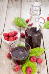 Raspberry Sirup in a glass
