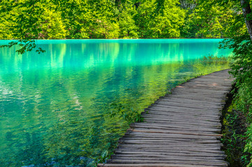 Pond at Plitvice Lakes National park in Spring © zkbld