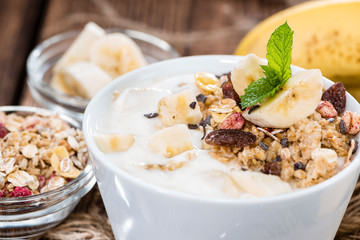 Homemade Banana Yogurt