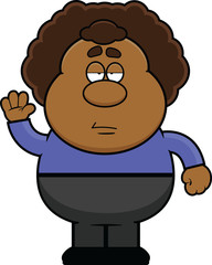 Cartoon Man With Big Hair Frowning