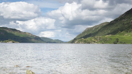 Tranquil scenery at Ullswater lake in the Lake District, UK