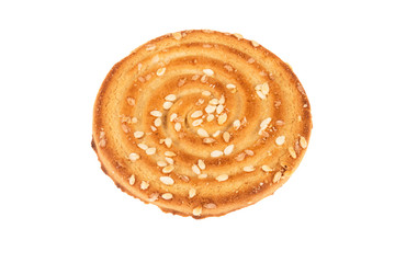 One cookie  cookie on isolated background closeup