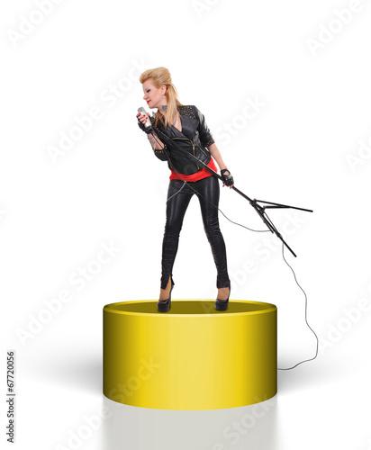 girl standing on scene