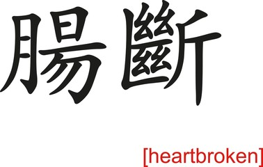 Chinese Sign for heartbroken