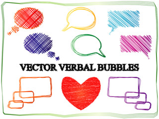 Vector Verbal Bubles