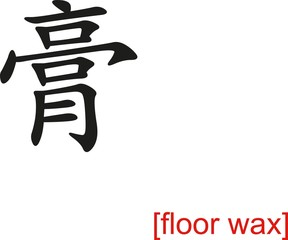 Chinese Sign for floor wax