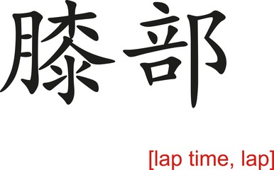 Chinese Sign for lap time, lap