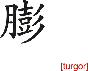 Chinese Sign for turgor