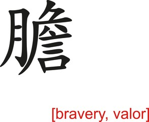 Chinese Sign for bravery, valor