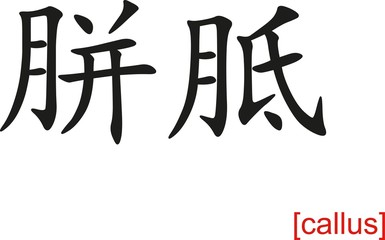 Chinese Sign for callus