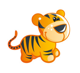 Baby Cute Tiger Vector