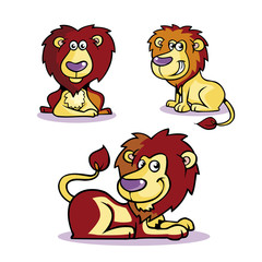 Collection of Lion Cartoon