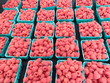 Raspberries at Farmers Market