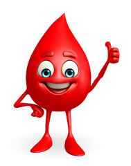 Blood Drop Character with best sign
