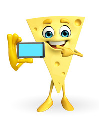 Cheese Character with mobile