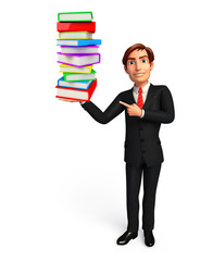 Young Business Man with books