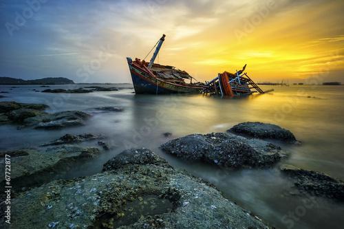 Aluminium Schipbreuk Wreck boat