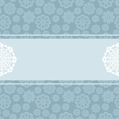 Decorative background with snowflakes and place for text