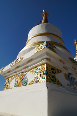 Stupa at Thiksey Monastery, Ladakh,India