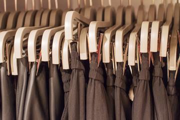Preview ladies skirts hanging on display