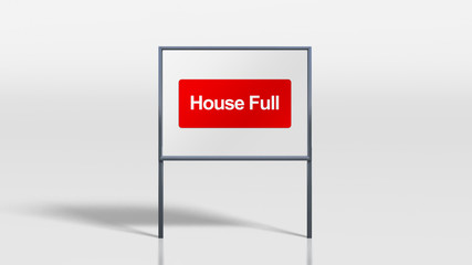 signage stands of house full
