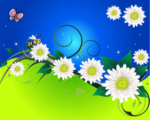 Background With Butterfly Spring