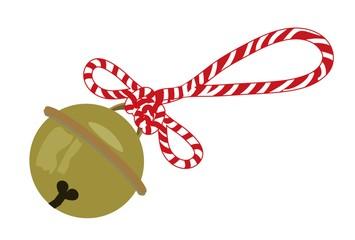 祭りの紅白の紐の着いた鈴