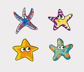 Funny Stars Vector Collection