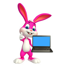 Easter Bunny with laptop