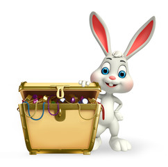 Easter Bunny with treasure box