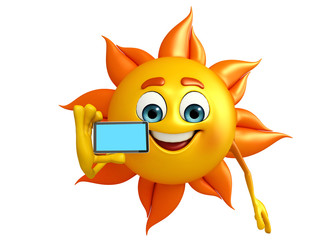 Sun Character With mobile