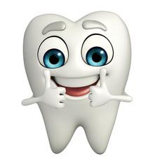 Teeth character is thumbup