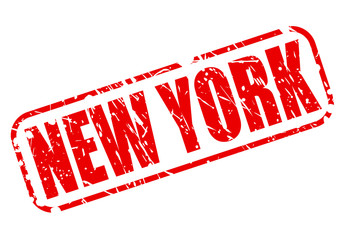 New York red stamp text