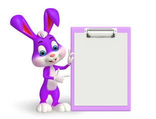 Easter Bunny with notepad