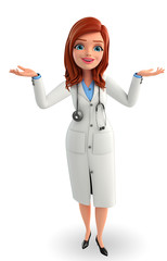 Young Doctor with holding pose