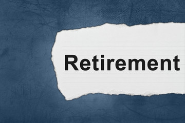 retirement with white paper tears