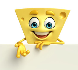 Cheese Character with sign