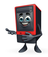 Computer Cabinet Character with holding pose