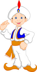 funny aladdin cartoon waving