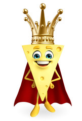 Super Cheese Character with crown