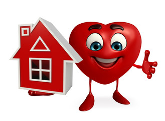 Heart Shape character with home