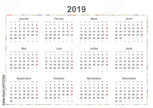 french calendar - 67727202
