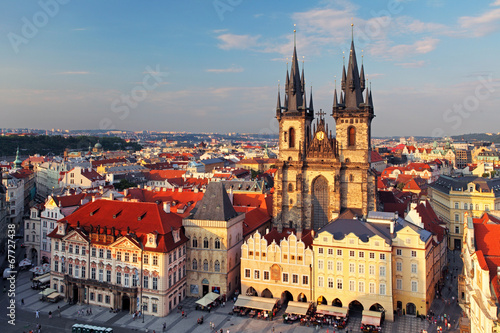 Aluminium Praag Old Town Square, Prague, Czech Republic