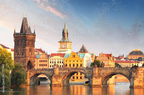 Staande foto Praag Charles bridge in Prague, Czech republic