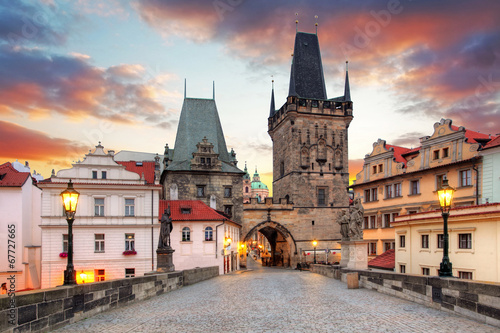 Tuinposter Praag Prague View from Charles Bridge